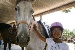 Equitation en colonie de vacances